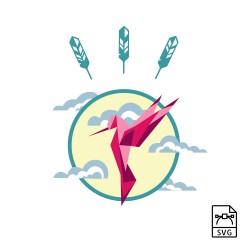 Hummingbird - Vector graphics