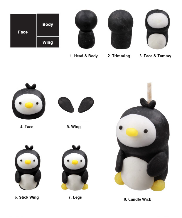 Eyaco tiny penguin candle diy wax clay making candle for eyaco tiny penguin candle diy solutioingenieria Image collections